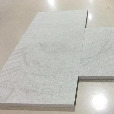 Pure White Sandstone Tiles Slabs